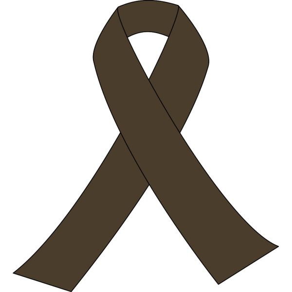 Brown Awareness Ribbon PNG Clip art