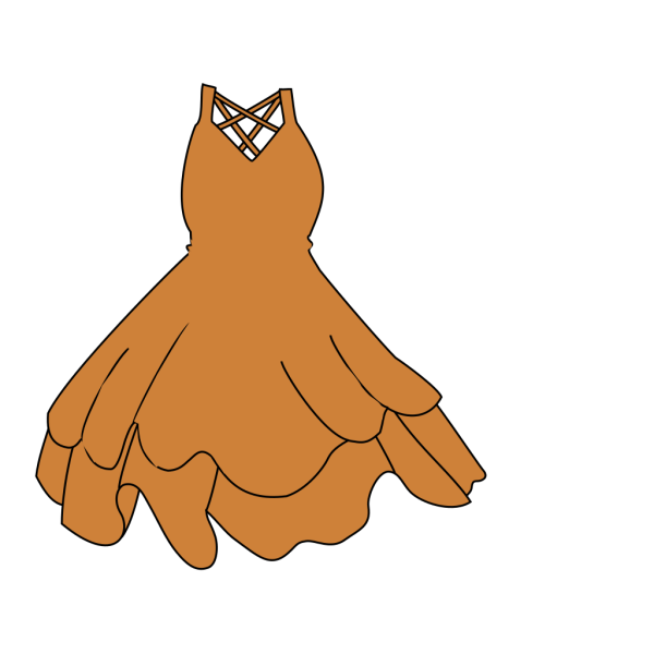 Orange Brown Dress PNG Clip art