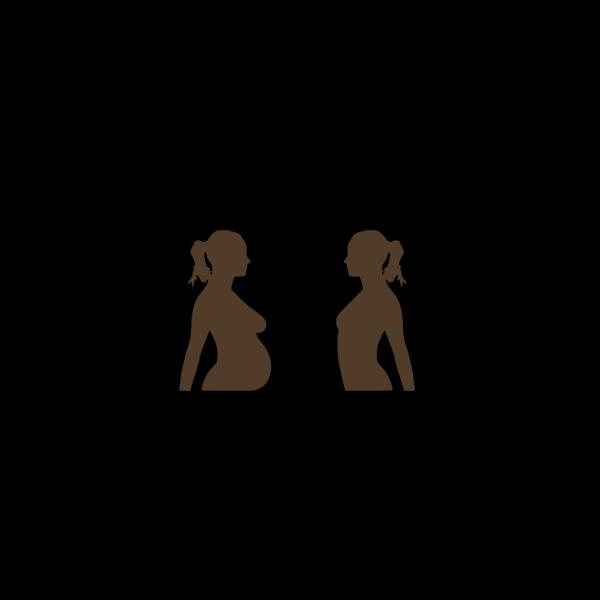 Brown Pregnant PNG Clip art