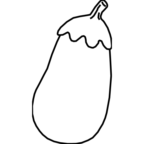 Eggplant Line Art