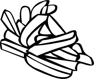 French Fries Line Art PNG Clip art
