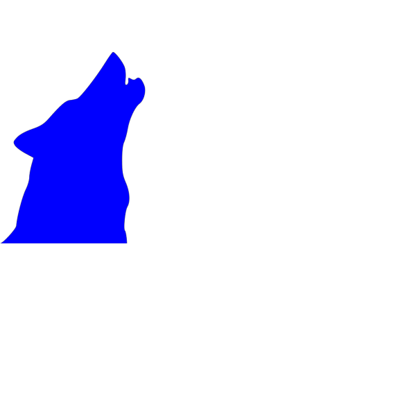 Blue Howling Wolf PNG Clip art