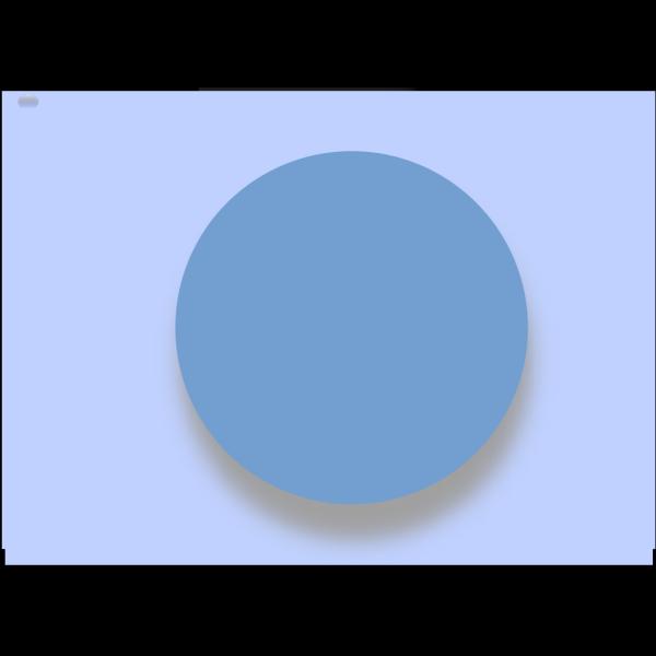 Empty Blue Button PNG Clip art