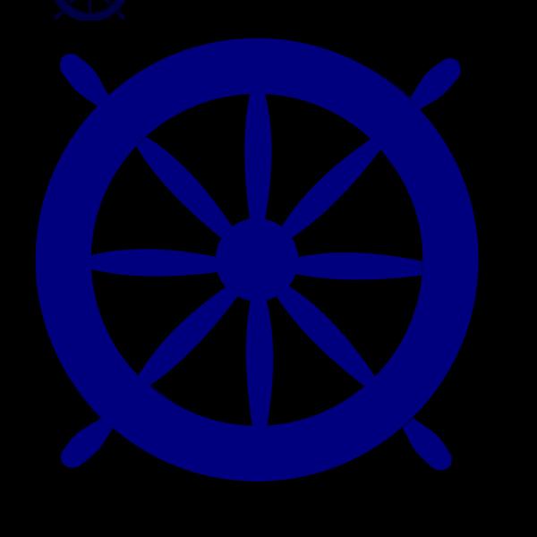Blue Ships Wheel PNG images