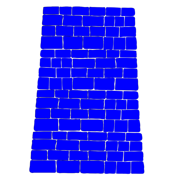 Blue Brick Wall PNG images