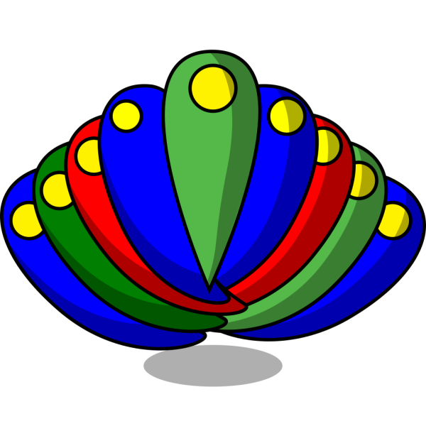 Peacock Feather Primary Colors PNG Clip art