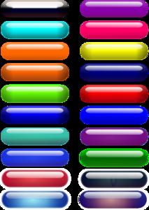 Glossy Pill Buttons Clip art
