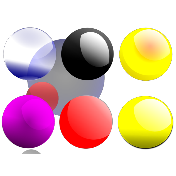 Glossy Balls PNG images
