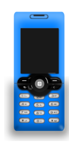 Blue Mobile Phone PNG images