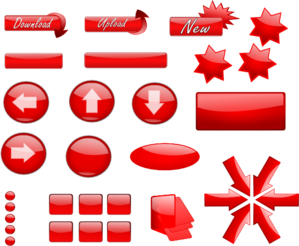Red Glossy Buttons PNG Clip art