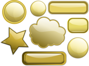 Some Gold Buttons PNG Clip art