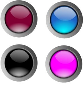 Round Glossy Buttons PNG Clip art