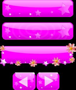 Pink Girl Buttons PNG Clip art