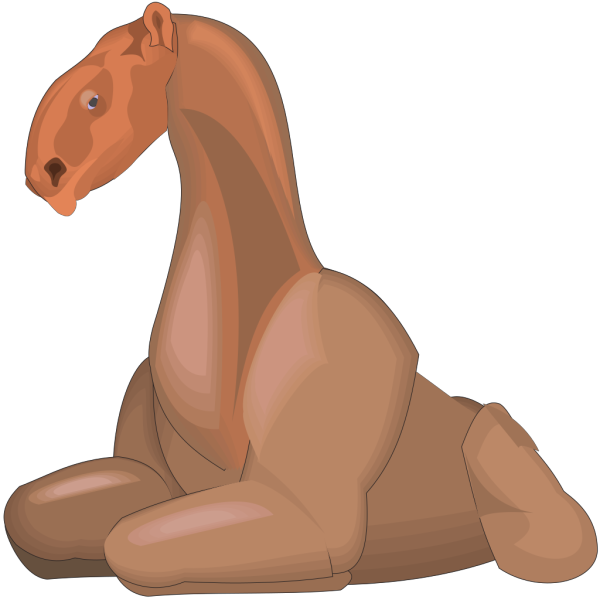 Sitting Indricotherium PNG Clip art