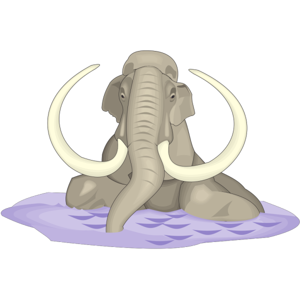 Mammuthus Imperator In Water PNG images