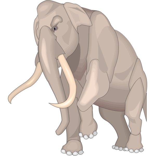 Walking Mammuthus Imperator PNG Clip art