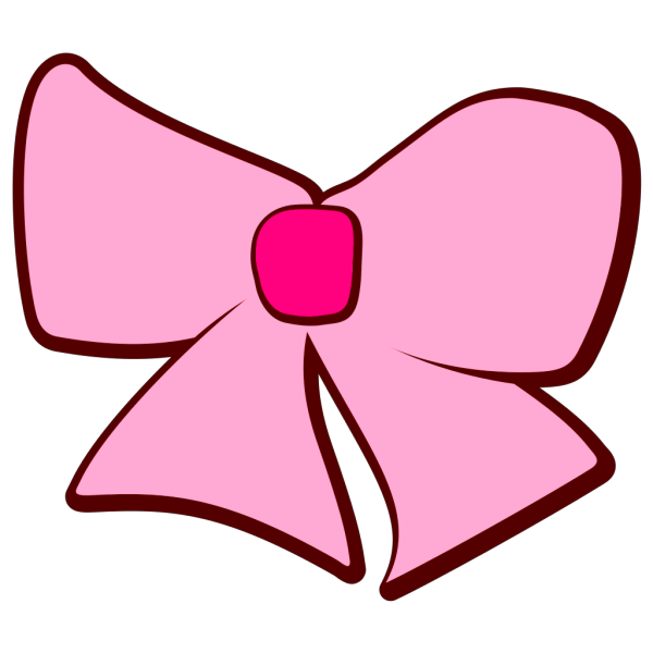 Pink Brown Bow PNG Clip art