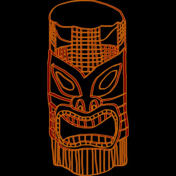 Tiki Golden Brown PNG Clip art