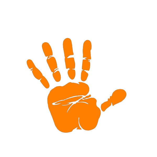 Hand Print Outlined PNG Clip art