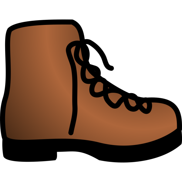 Simple Brown Boot PNG images