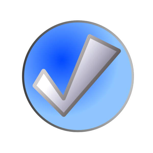 Blue Check Button PNG images