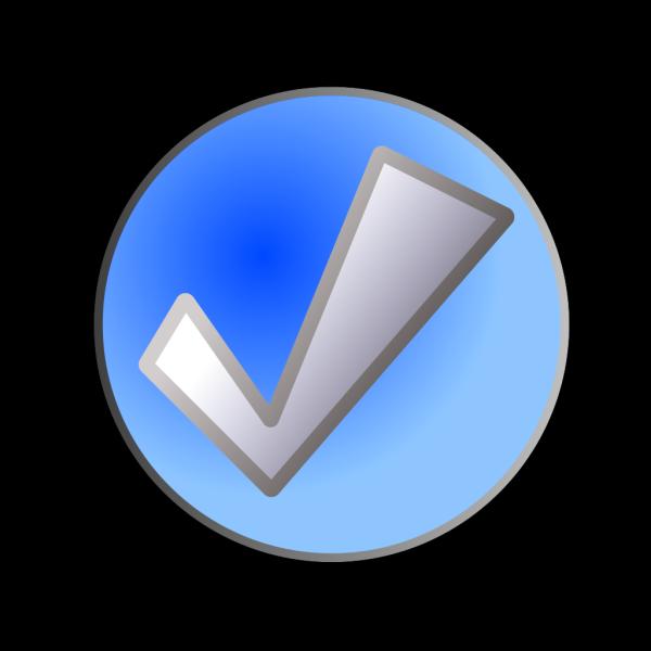 Blue Check Button PNG Clip art
