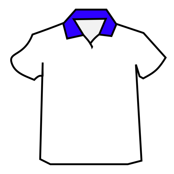 Blue Shirt Colar PNG Clip art