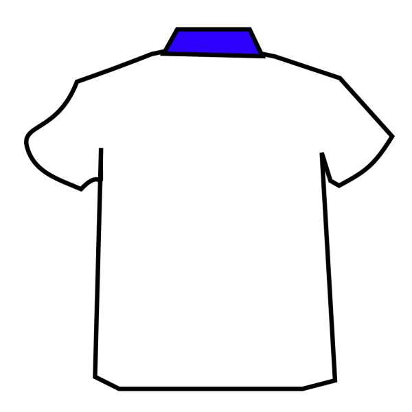 Blue Shirt Colar 2 PNG Clip art