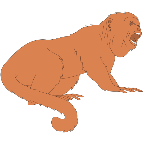 Open Mouthed Monkey PNG Clip art