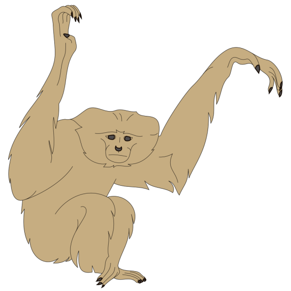 Monkey With Raised Arms PNG Clip art