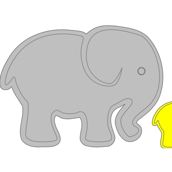Adult Elephant With Baby Elephant PNG Clip art