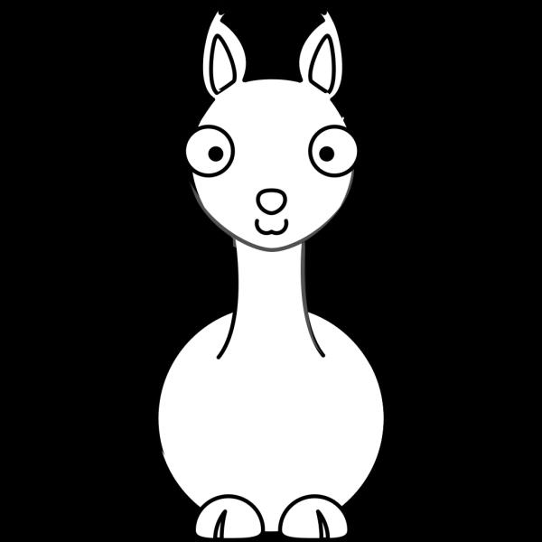 Llama -b&w PNG Clip art