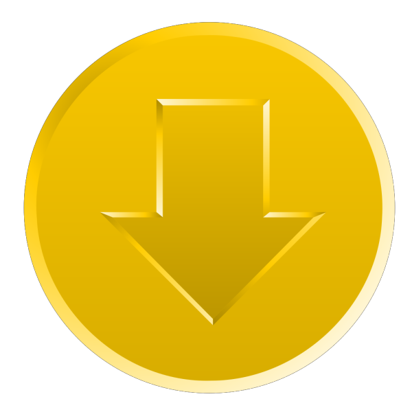 Golden Download Button PNG Clip art