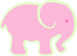 Adorable Pink Elephant PNG Clip art