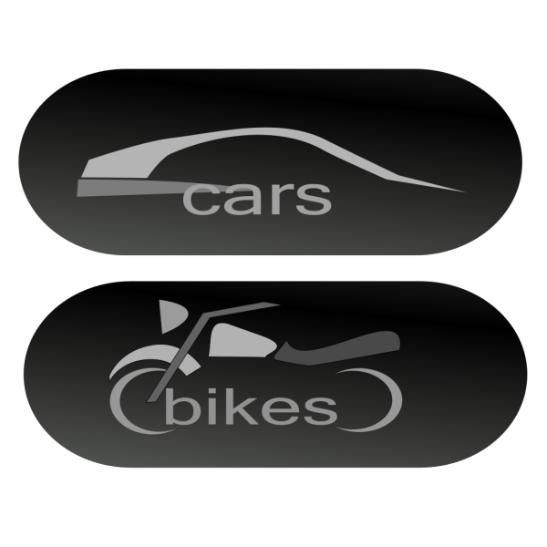 Cars Bikes Buttons PNG Clip art