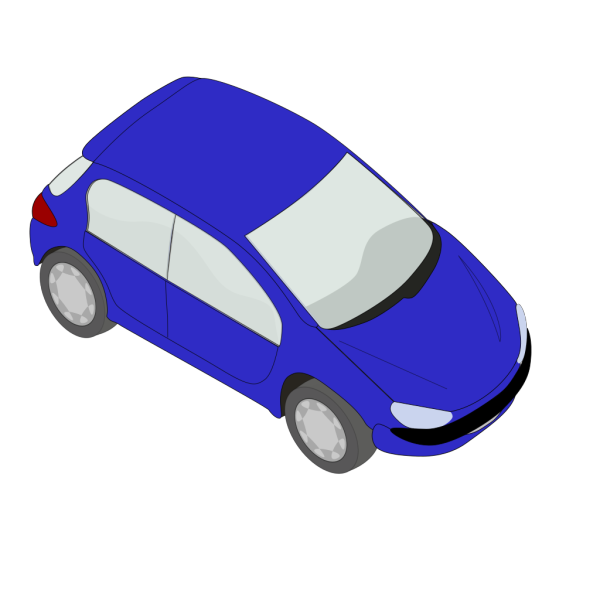 Blue Peugeot 206 PNG icons