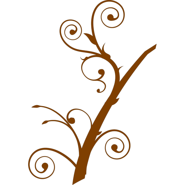 Brown Branch Leaves PNG Clip art