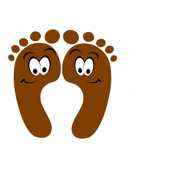 Brown Happy Feet PNG Clip art