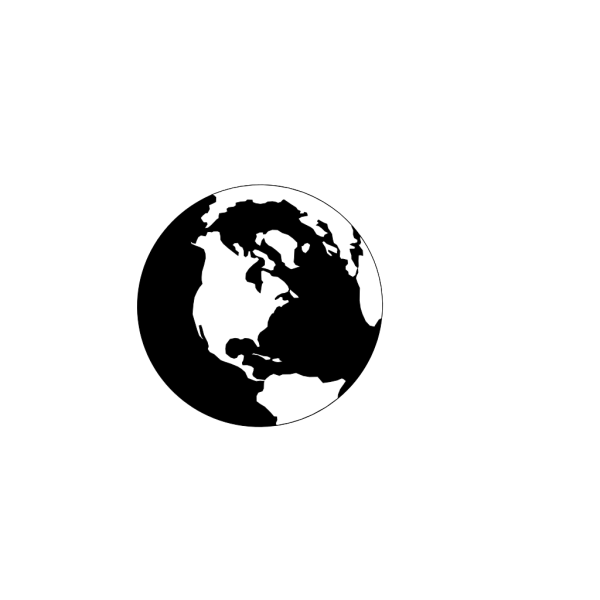 World Black And White PNG Clip art