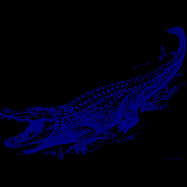 Blue Gator PNG Clip art