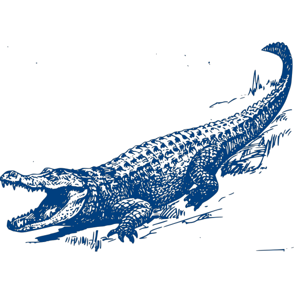 Blue Gator PNG images