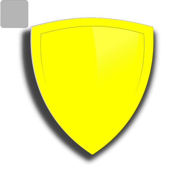 Blue And Yellow Shield PNG Clip art