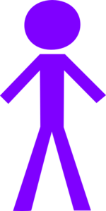 Male Purple Stick Figure PNG Clip art