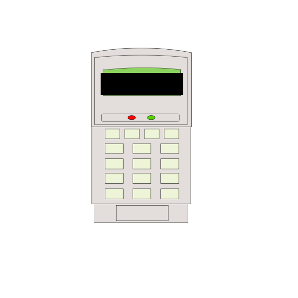 Security Alarm Keypad PNG images