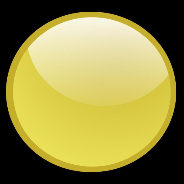 Gold Circle Button PNG Clip art