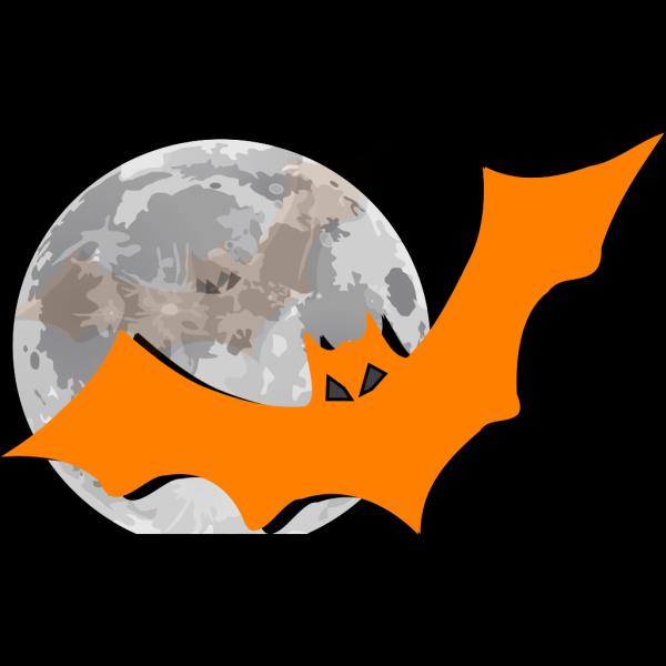 Bat In The Moonlight PNG Clip art