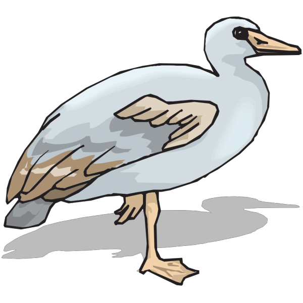 Blue And Brown Goose PNG Clip art