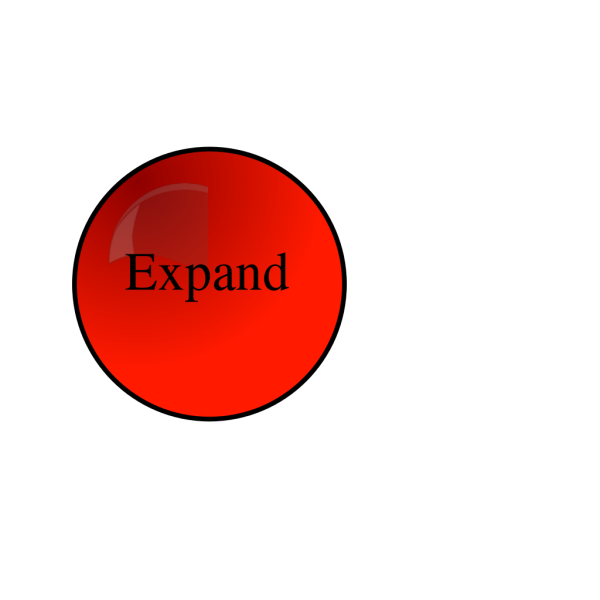 Expand Red Button PNG Clip art
