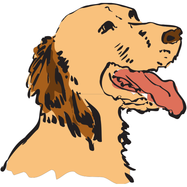 Panting Dog PNG Clip art