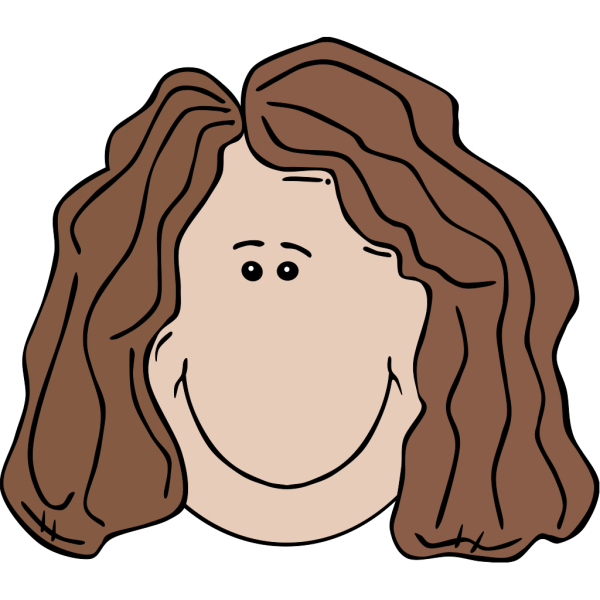 Woman Face PNG icon